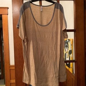 Oatmeal and Gray Classic LLR Tee 3XL